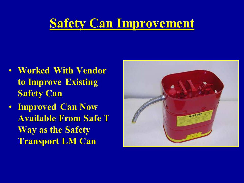 Safety Can Improvement
