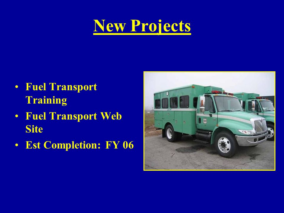 New Projects Fuel Transport Training Fuel Transport Web Site