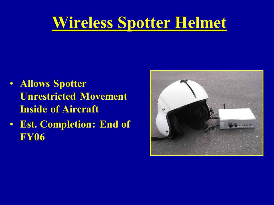 Wireless Spotter Helmet
