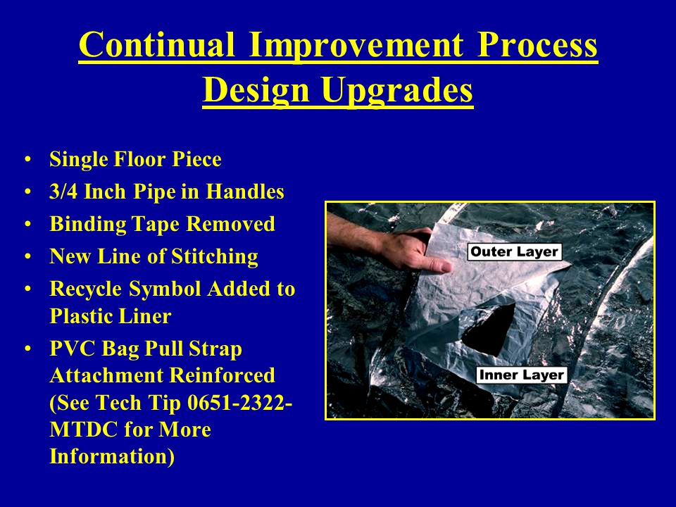 Continual Improvement Process Design Upgrades