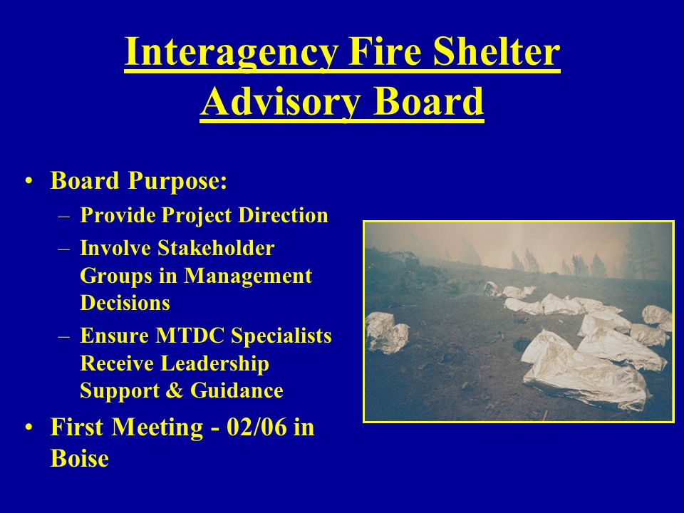 Interagency Fire Shelter Advisory Board