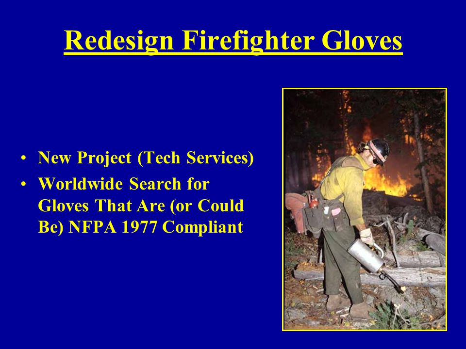 Redesign Firefighter Gloves
