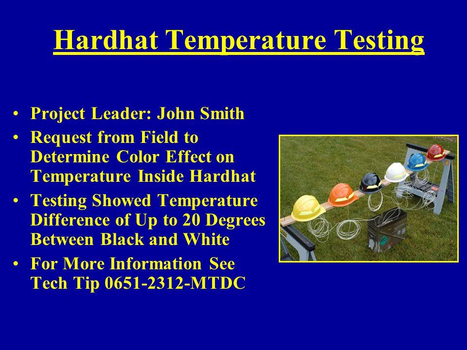 Hardhat Temperature Testing