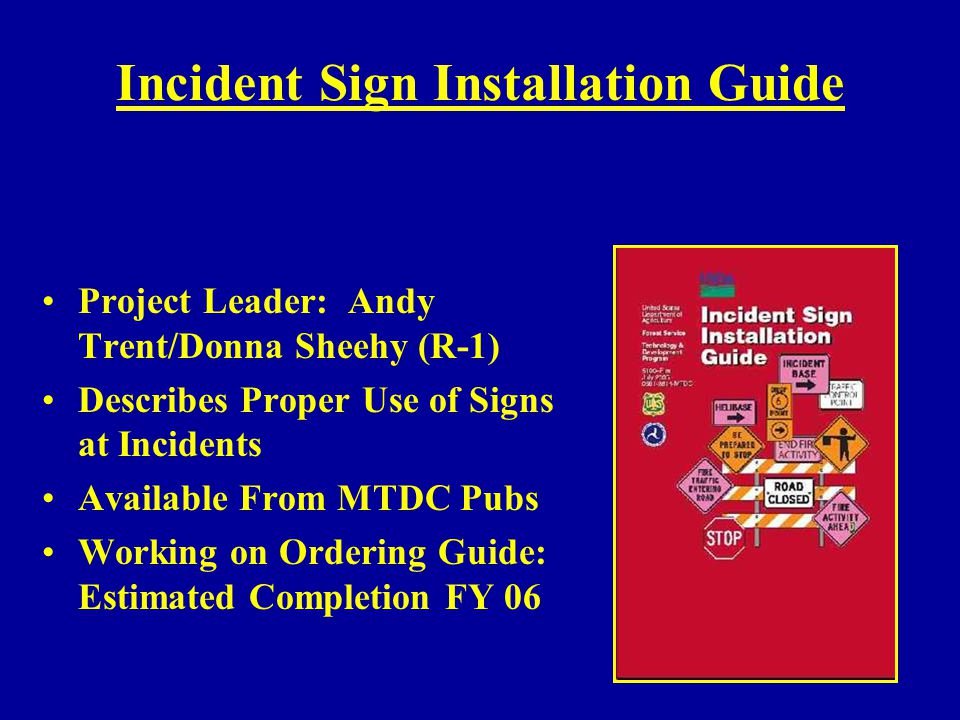Incident Sign Installation Guide