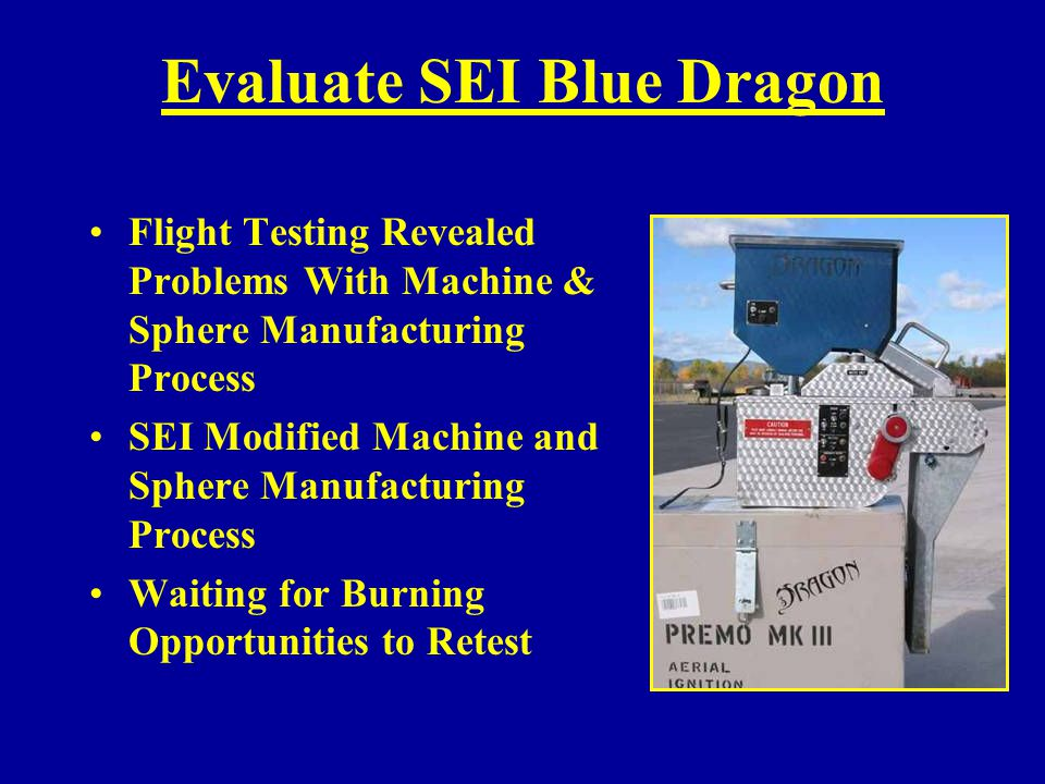 Evaluate SEI Blue Dragon