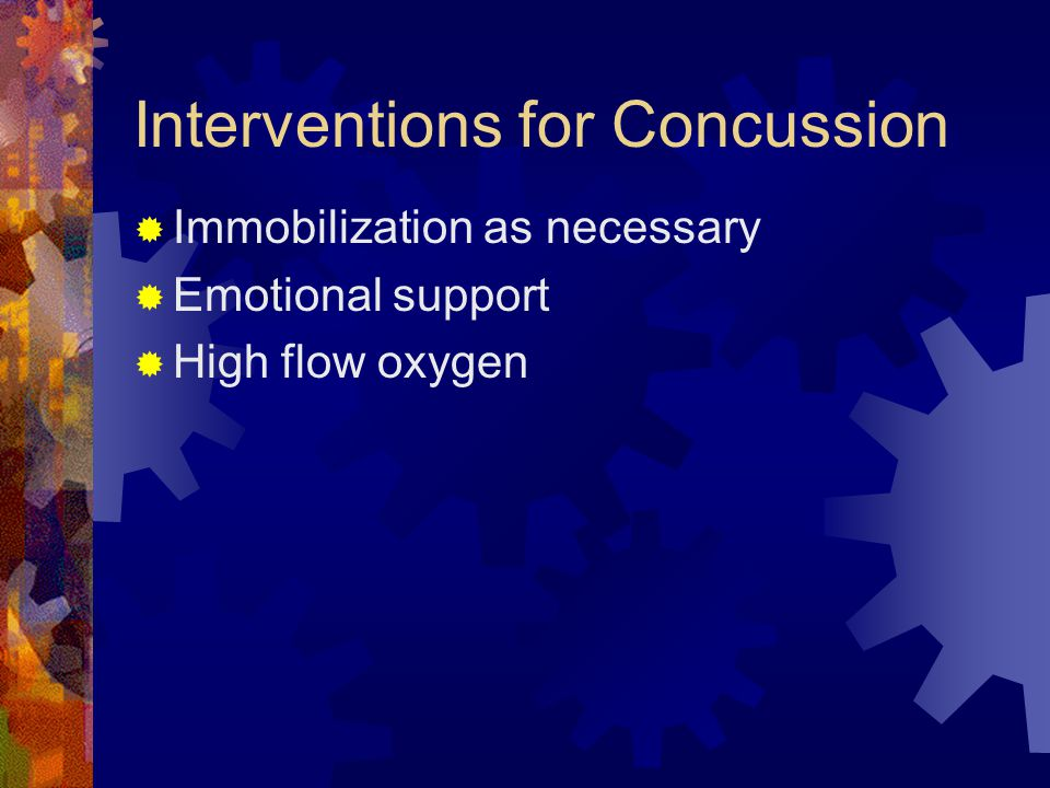 Interventions for Concussion