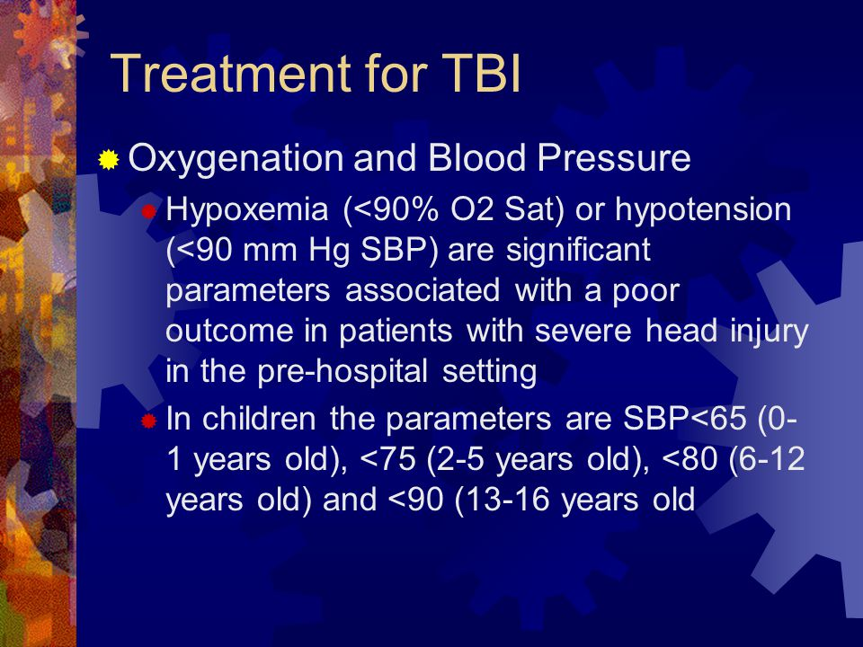Treatment for TBI Oxygenation and Blood Pressure