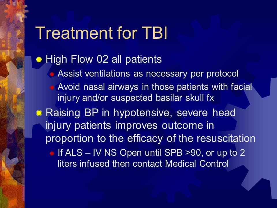 Treatment for TBI High Flow 02 all patients