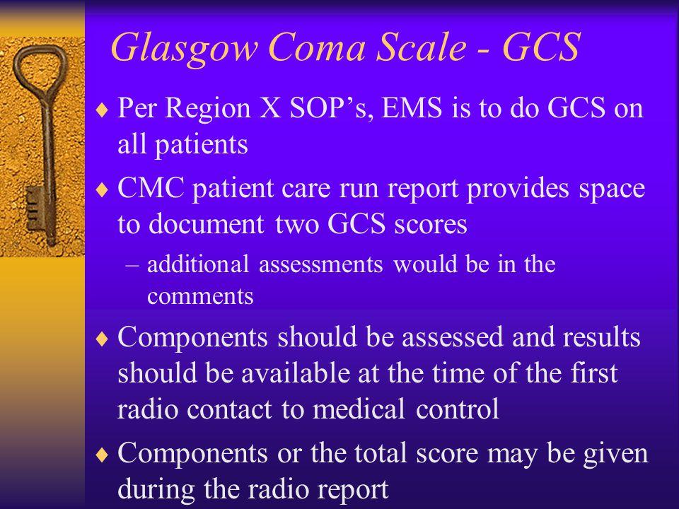 Glasgow Coma Scale - GCS