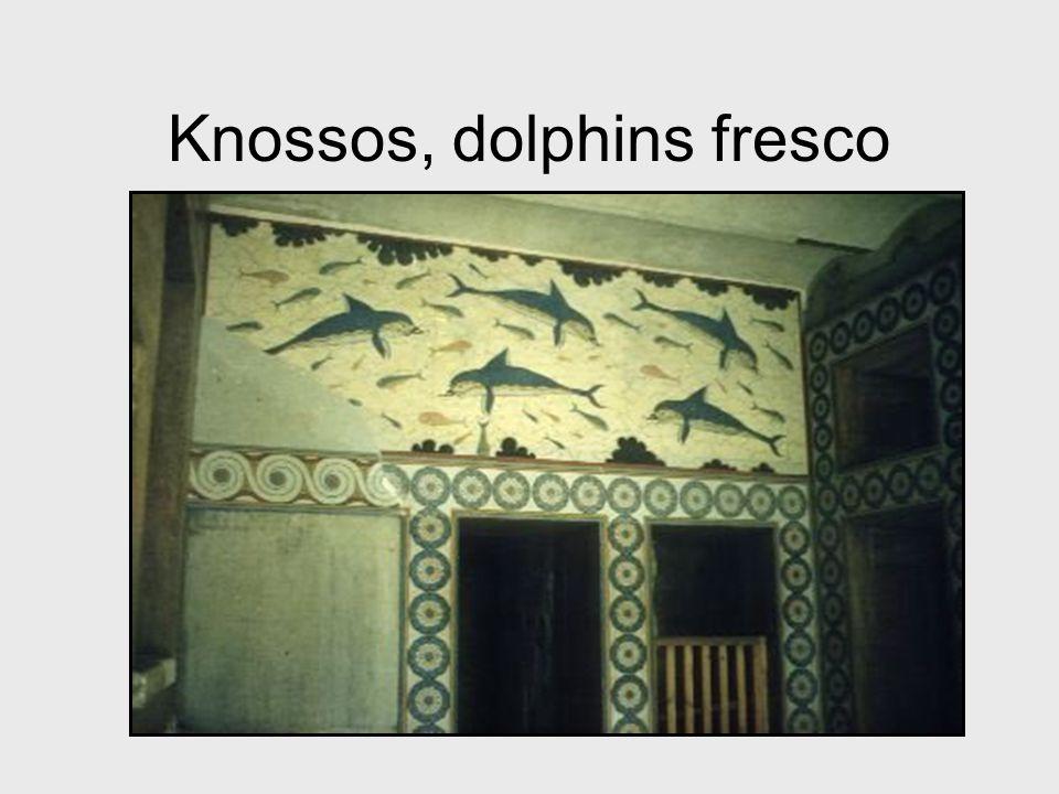 Knossos, dolphins fresco