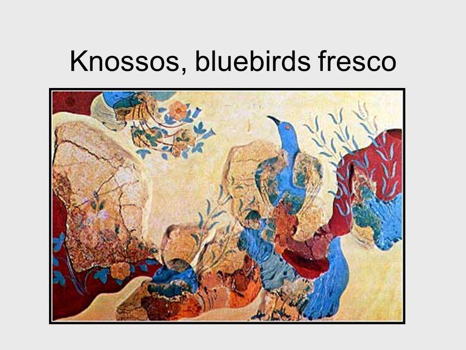 Knossos, bluebirds fresco