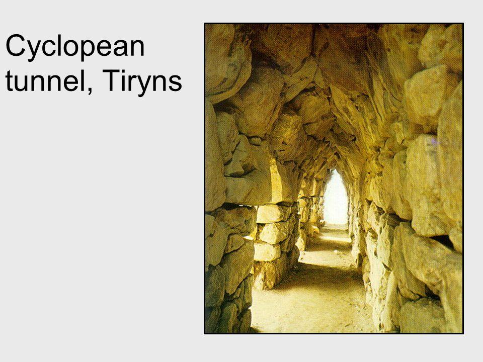 Cyclopean tunnel, Tiryns