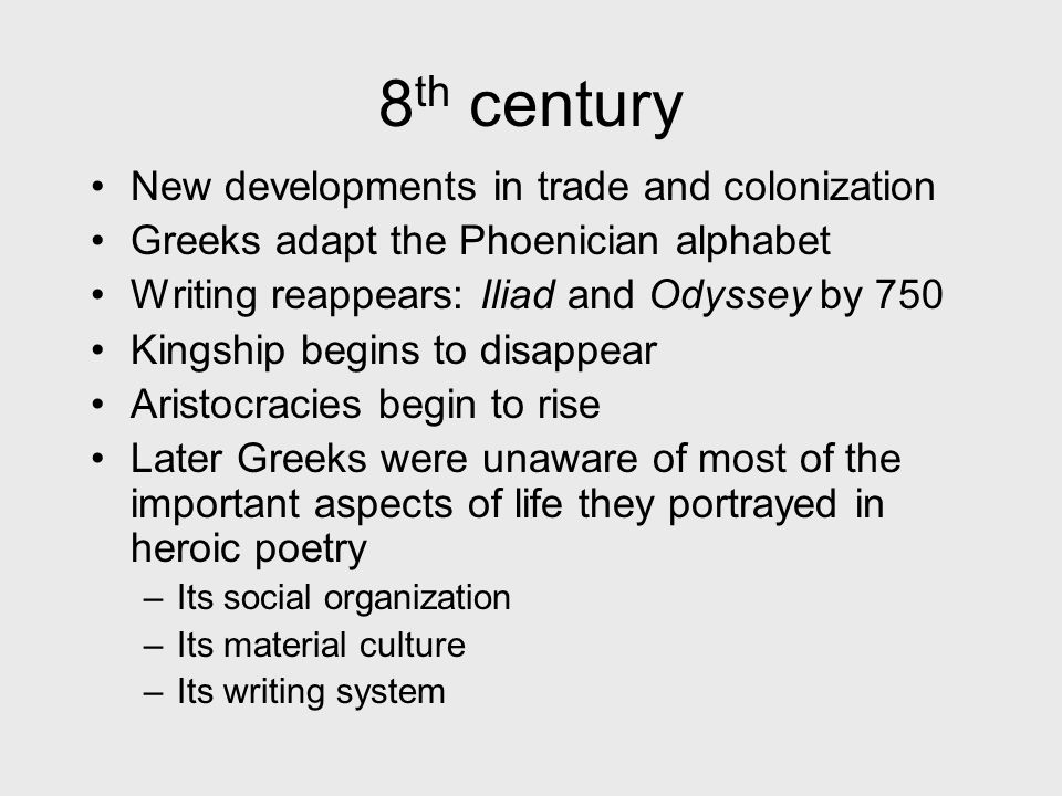 8th century New developments in trade and colonization