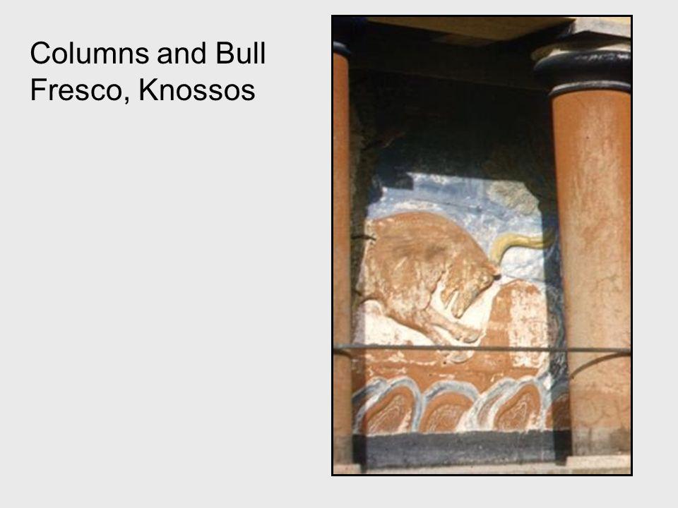 Columns and Bull Fresco, Knossos