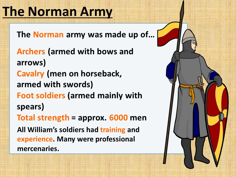 The Norman Army The Norman army was made up of…