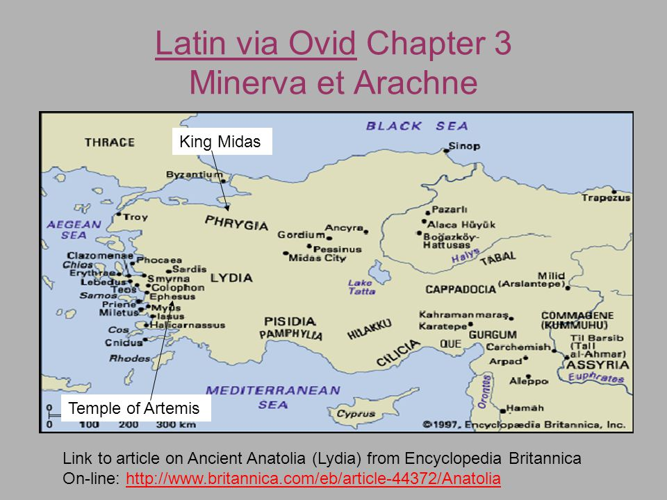 Latin via Ovid Chapter 3 Minerva et Arachne