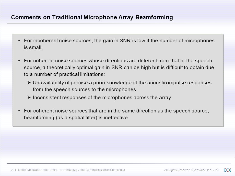Comments on Traditional Microphone Array Beamforming