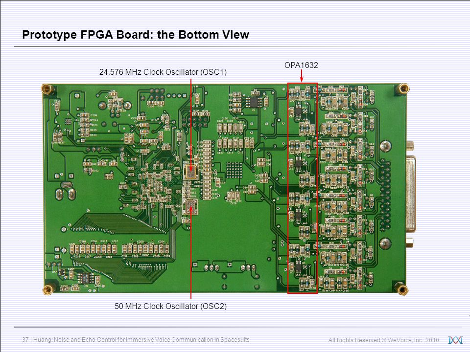 Prototype FPGA Board: the Bottom View