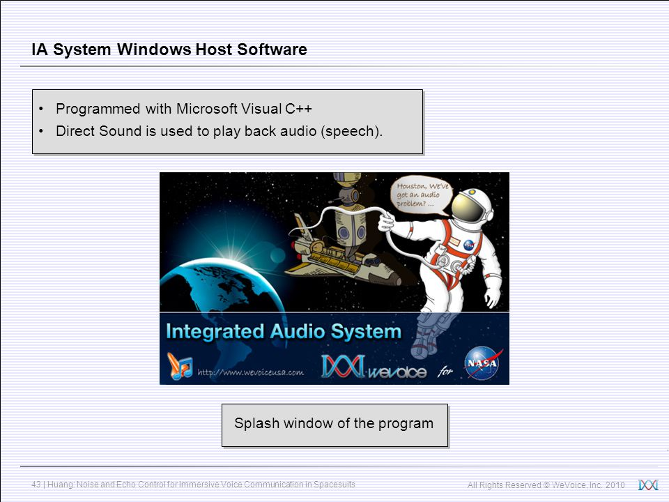 IA System Windows Host Software