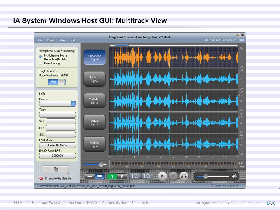 IA System Windows Host GUI: Multitrack View