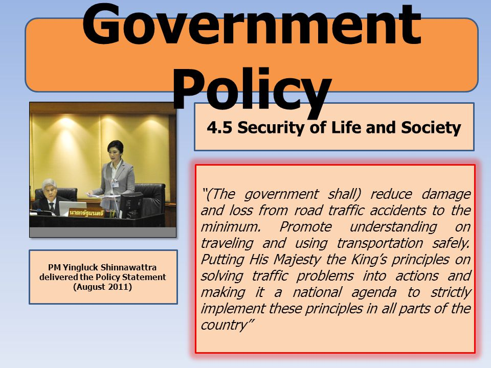 Government Policy 4.5 Security of Life and Society