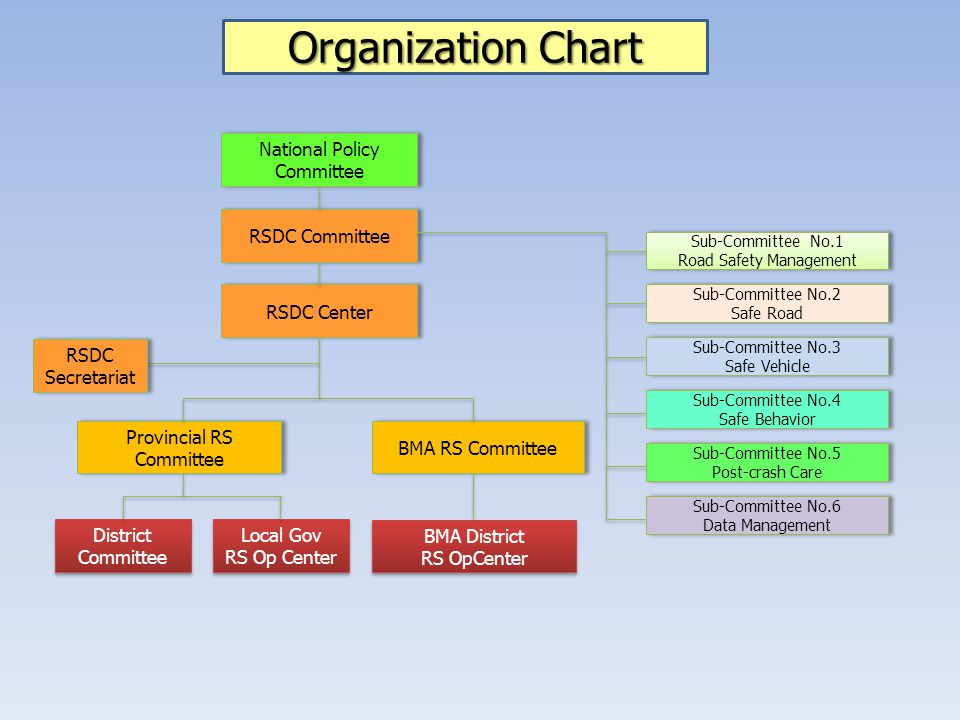 Organization Chart National Policy Committee RSDC Committee