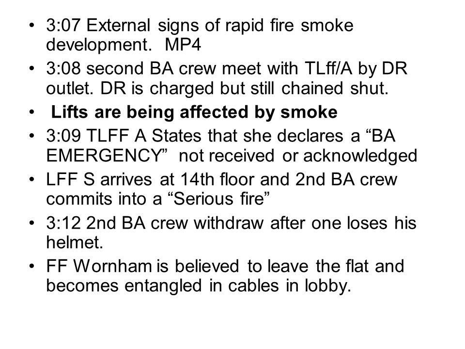 3:07 External signs of rapid fire smoke development. MP4