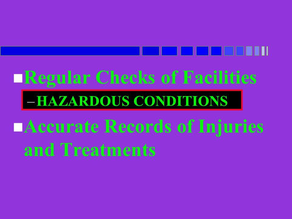 Regular Checks of Facilities