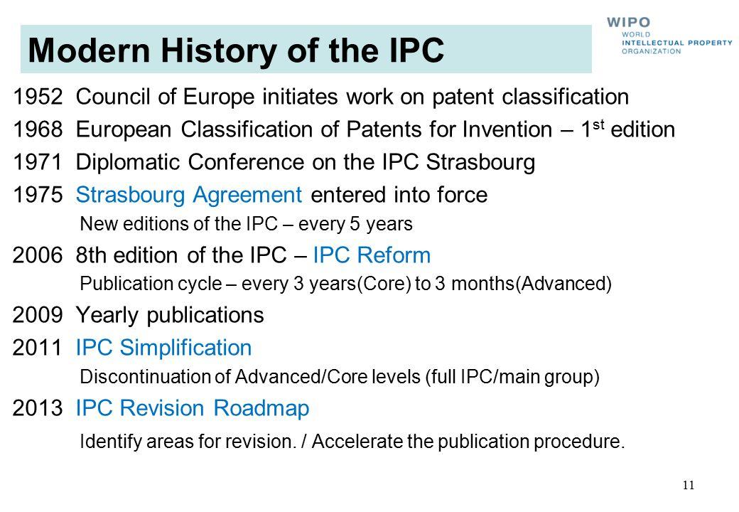 Modern History of the IPC