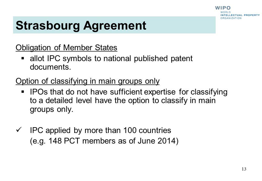 Strasbourg Agreement Obligation of Member States