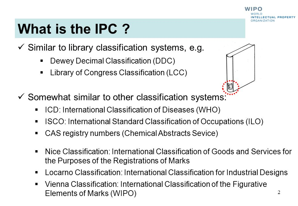 What is the IPC Similar to library classification systems, e.g.