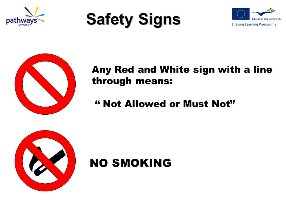 Safety Signs NO SMOKING