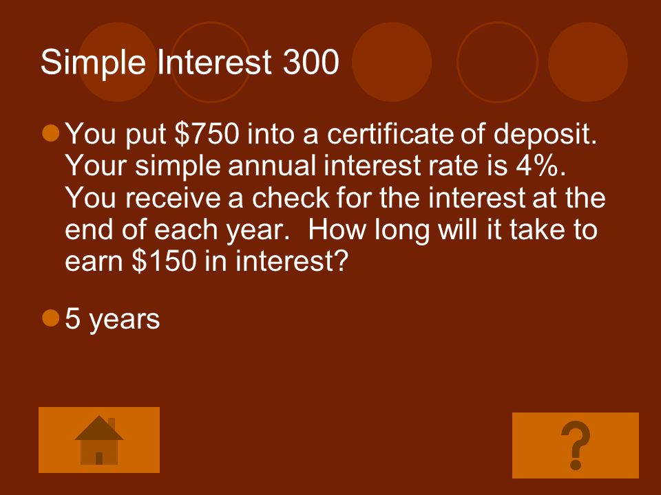 Simple Interest 300