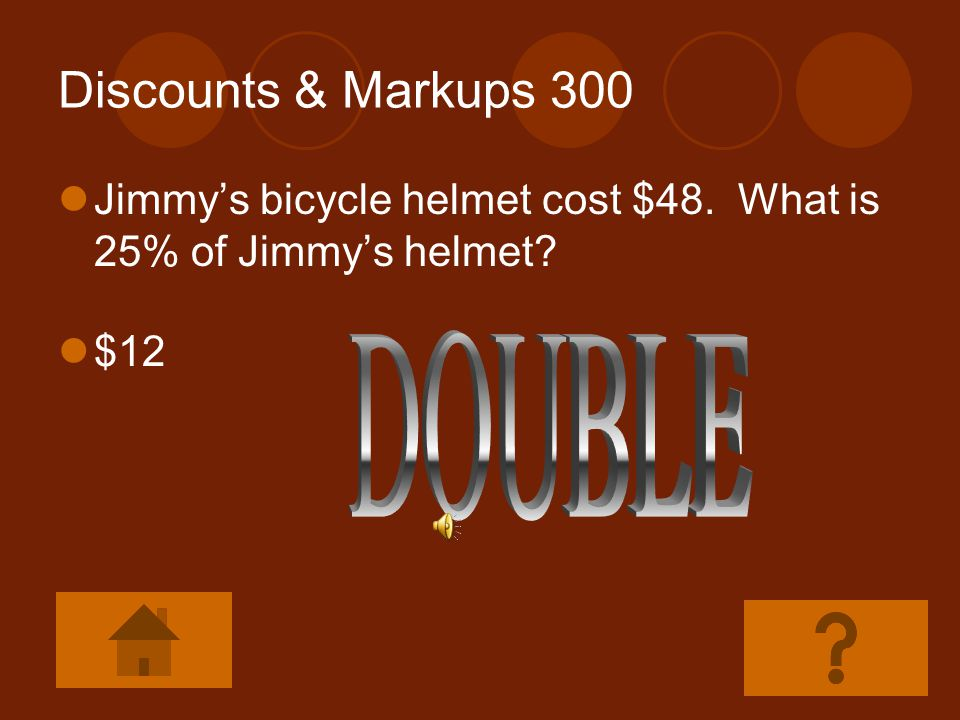 Discounts & Markups 300 DOUBLE