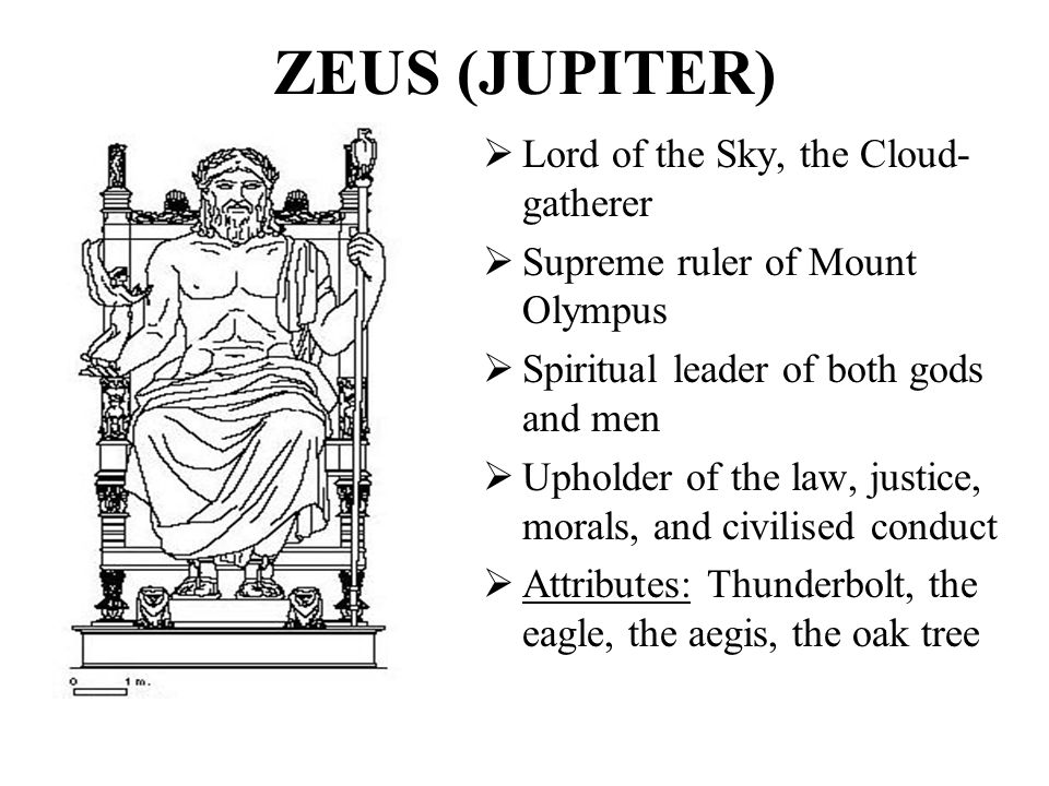 ZEUS (JUPITER) Lord of the Sky, the Cloud-gatherer