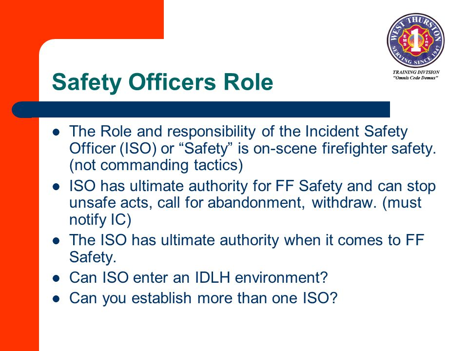 Safety Officers Role