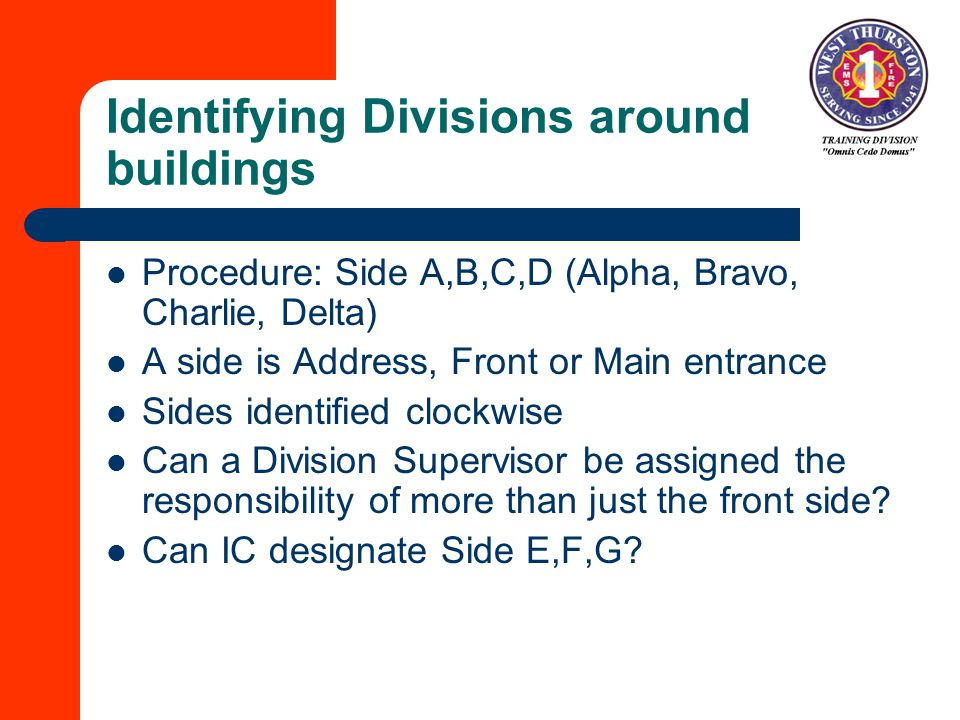 Identifying Divisions around buildings