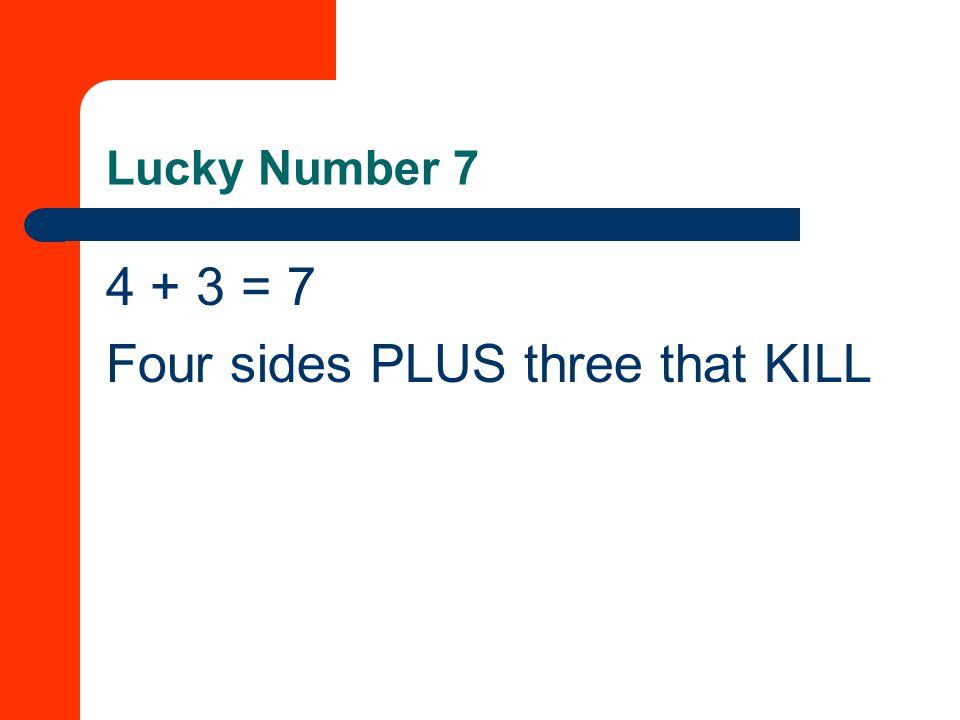 Four sides PLUS three that KILL