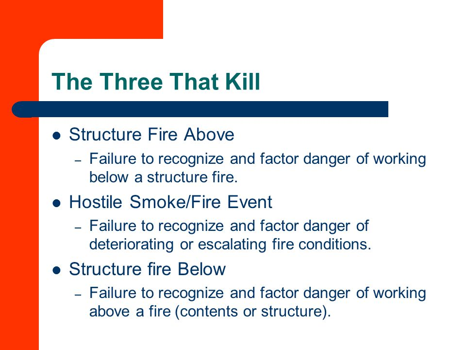 The Three That Kill Structure Fire Above Hostile Smoke/Fire Event