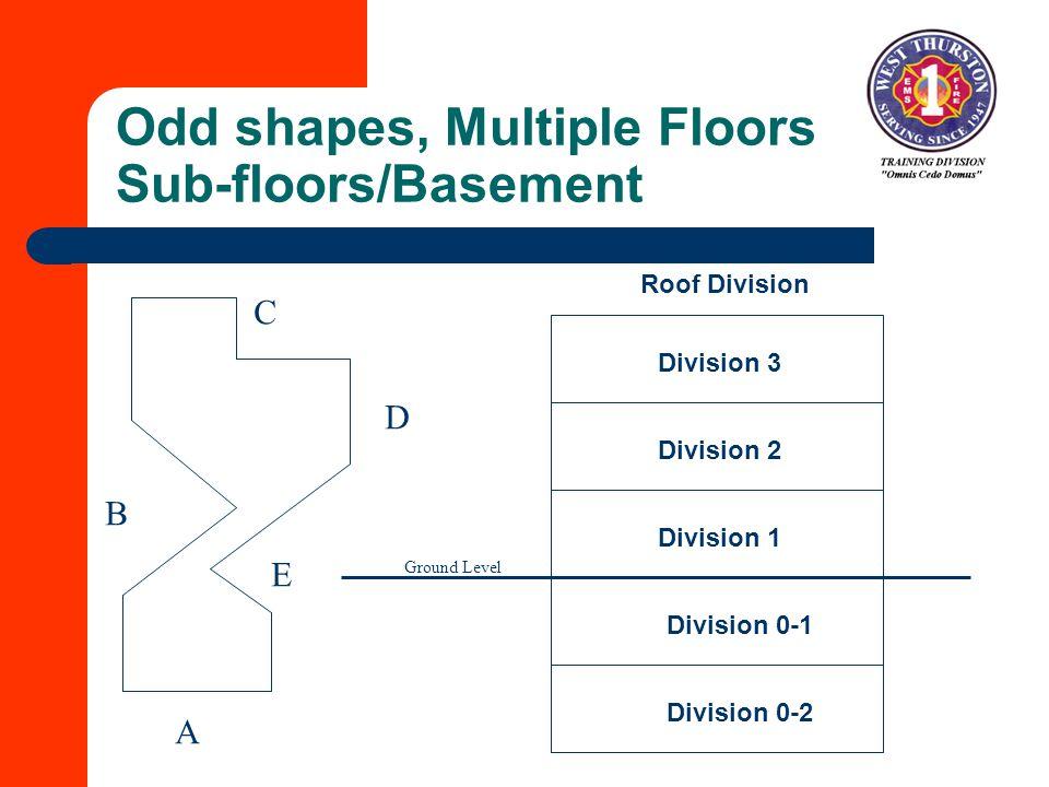 Odd shapes, Multiple Floors Sub-floors/Basement