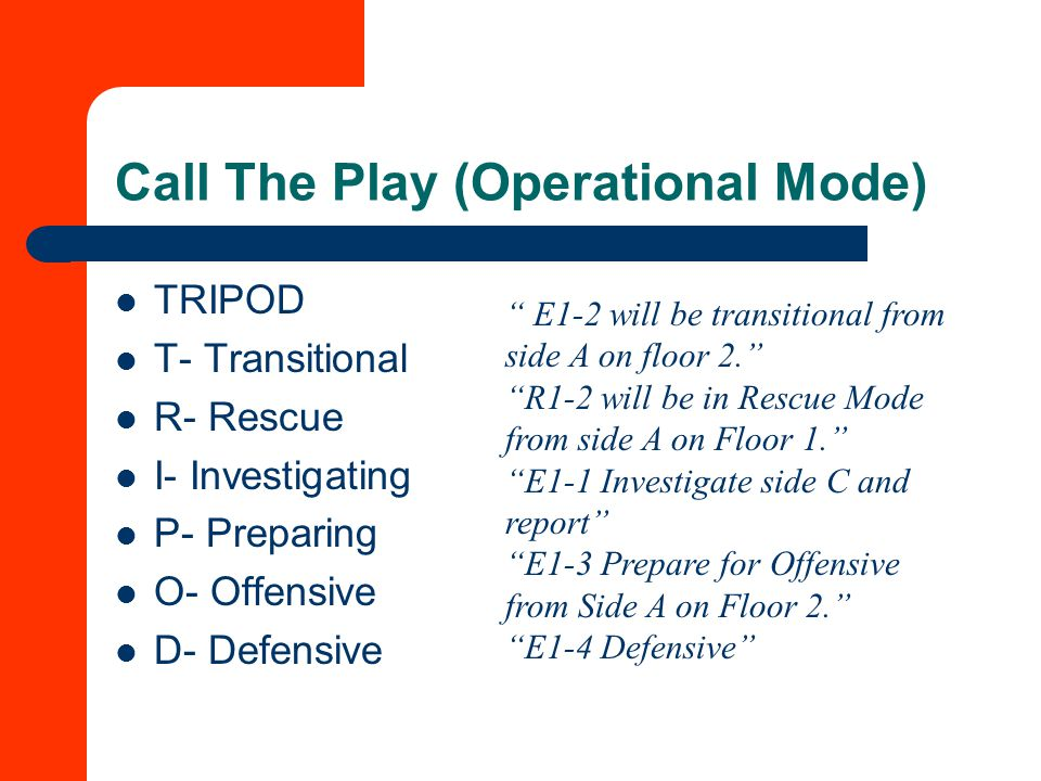 Call The Play (Operational Mode)