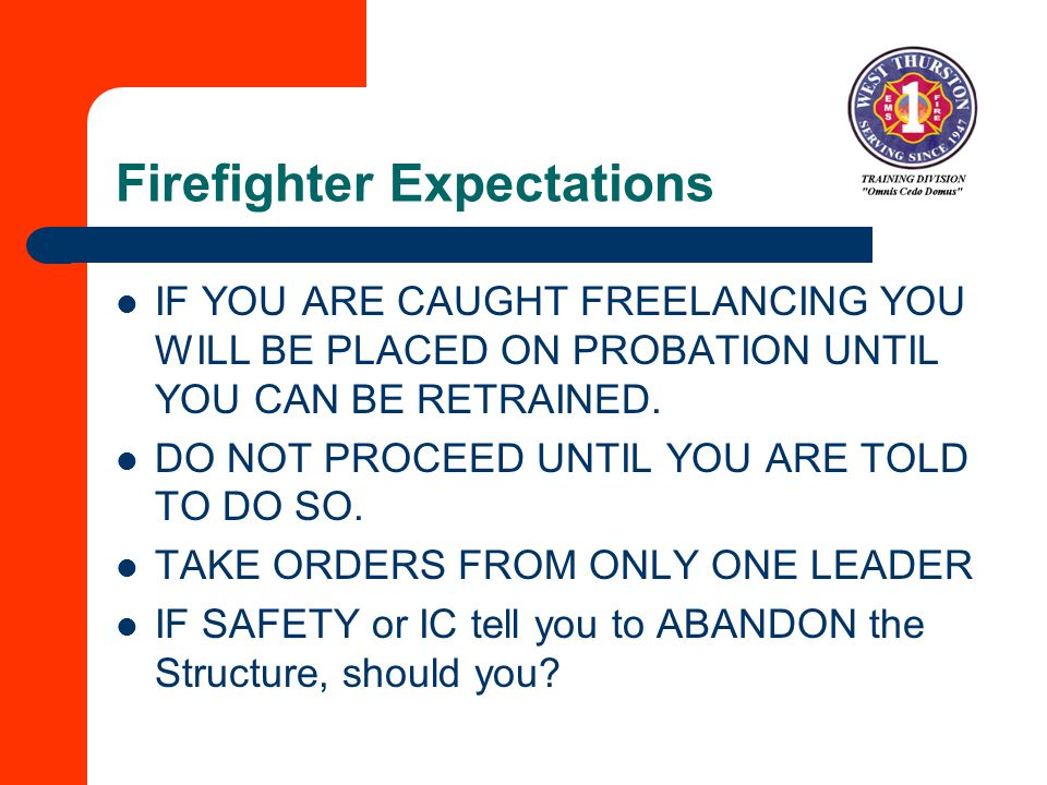 Firefighter Expectations