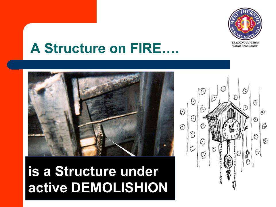 A Structure on FIRE…. is a Structure under active DEMOLISHION