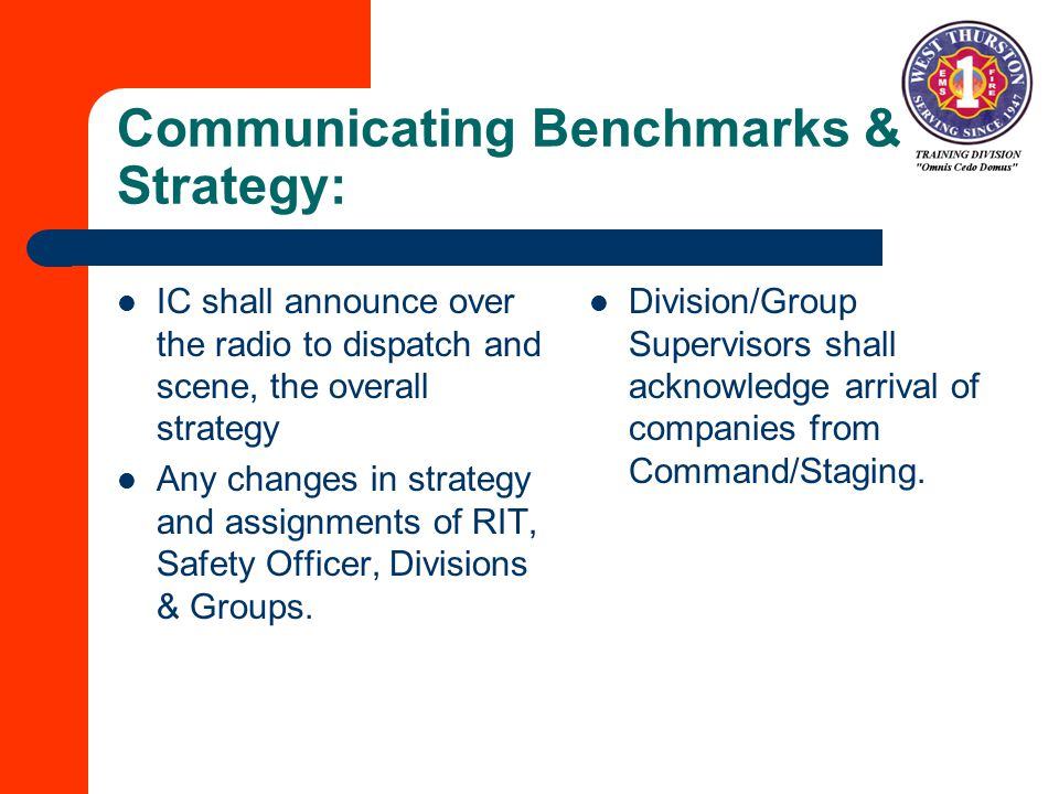 Communicating Benchmarks & Strategy: