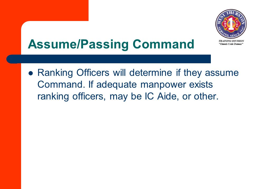 Assume/Passing Command