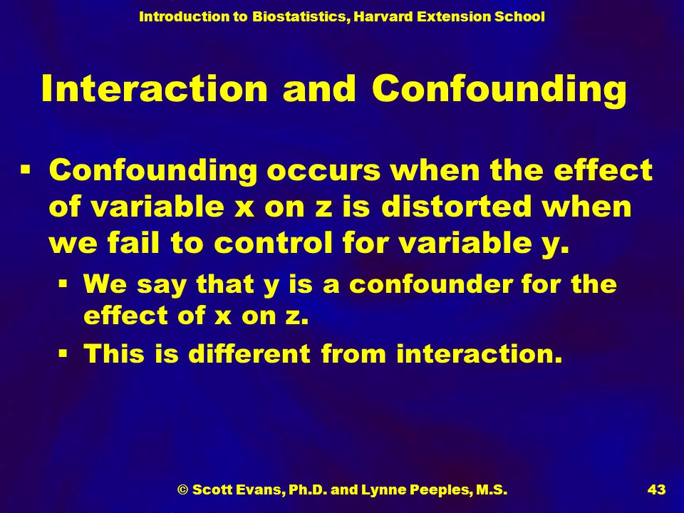 Interaction and Confounding