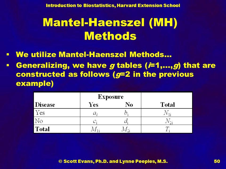 Mantel-Haenszel (MH) Methods