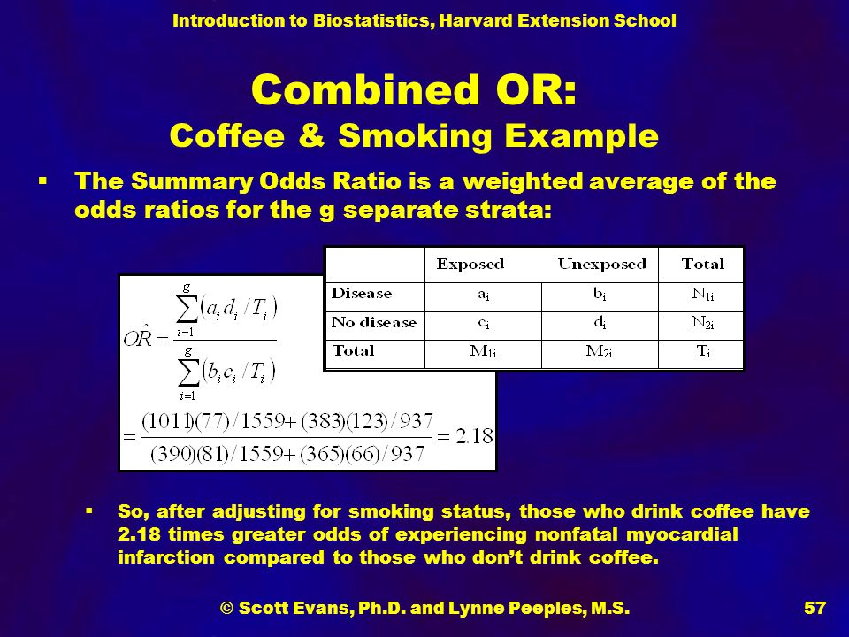 Combined OR: Coffee & Smoking Example