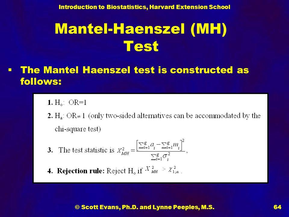 Mantel-Haenszel (MH) Test
