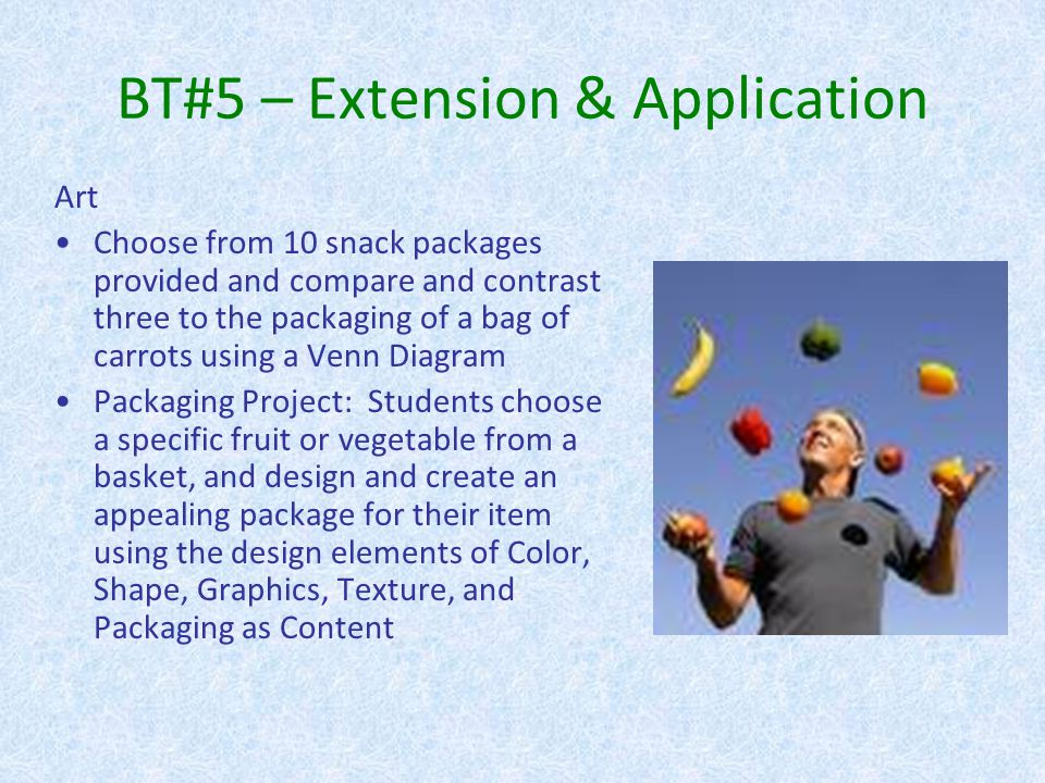 BT#5 – Extension & Application